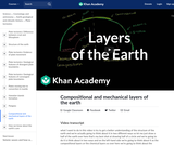 Cosmology and Astronomy: Compositional and Mechanical Layers of the Earth