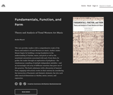 Fundamentals, Function, and Form: Theory and Analysis of Tonal Western Art Music