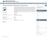 Microprocesadores Fundamentos y Aplicaciones