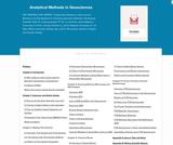 Analytical Methods in Geosciences