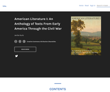 An Anthology of Texts From Early America Through the Civil War