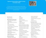 Business Communication: Written & Verbal Presentation Skills