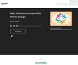 Best Practices in Accessible Online Design