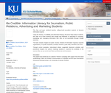 Be Credible: Information Literacy for Journalism, Public Relations, Advertising and Marketing Students