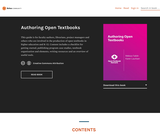 Authoring Open Textbooks