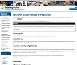 Research on Economics of Population