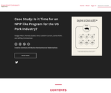Case Study: Is it Time for an NPIP like Program for the US Pork Industry?