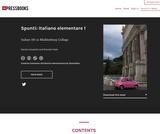 Spunti: Italiano elementare 1