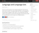 Language and Language Use