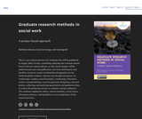 Graduate research methods in social work