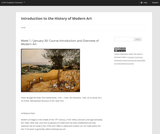 Introduction to the History of Modern Art