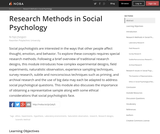Research Methods in Social Psychology