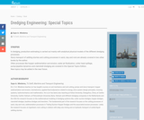Dredging Engineering: Special Topics