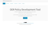 OER Policy Development Tool