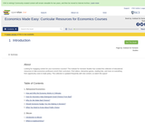 Economics Made Easy: Curricular Resources for Economics Courses