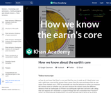 Cosmology and Astronomy: How we know about the Earth's core