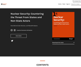 Nuclear Security: Countering the Threat From States and Non-State Actors