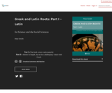 Greek and Latin Roots: Part I – Latin